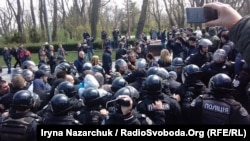 Штовханина в Одесі, 10 квітня 2017 року