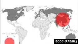 Глобално разпространение на вируса 2019-nCov