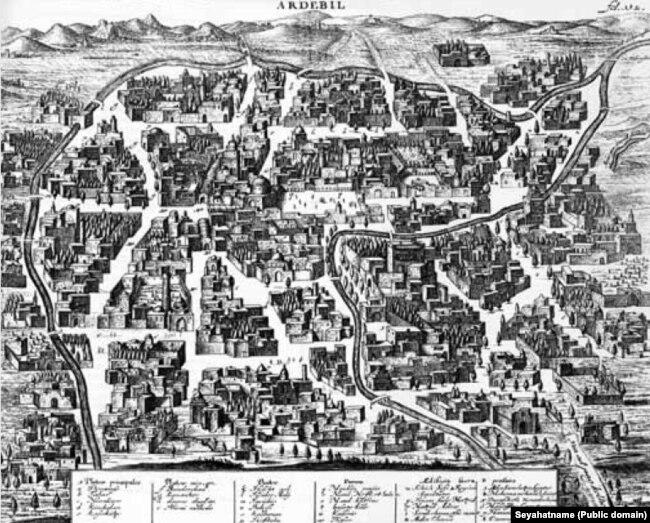 منظره اردبیل در سال ۱۶۳۷