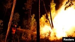 Лесные пожары в окрестностях Боука, в центральной части Португалии, 18 июня 2017