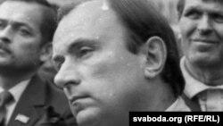 Лявон Дзейка, жнівень 1991. Фота Ўладзімера Кармілкіна.