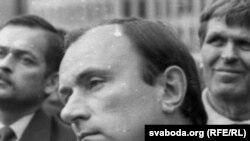 Лявон Дзейка на плошчы ў жніўні 1991 г.