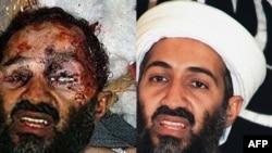 Усама бин Ладендин Интернетте пайда болгон эки сүрөтү. Пакистан сыналгысы бин Ладендин өлгөндөн кийинки береги сүрөтү тастыкталбаганын билдирди.