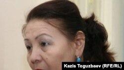 Гүлбаһрам Жүніс, «Желтоқсан. Тәуелсіздік қарлығаштары-86» ұйымының жетекшісі. Алматы, 28 ақпан 2011 жыл