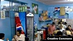 یک کافه پارسی (ایرانی) در بمبئی.
