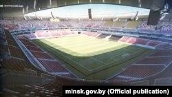Праект Нацыянальнага футбольнага стадыёна ў Менску.