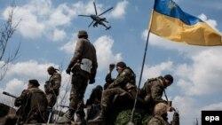 Украинские военные у Краматорска