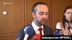 Руководитель аппарата премьер-министра Армении Эдуард Агаджанян, 1 июня 2018 г.