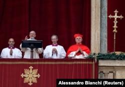 Папа Римський Франциск під час промови. Ватикан, 25 грудня 2014 року