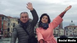 Омурбек Текебаев с дочерью Айданек.