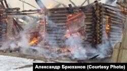 Кежма горит