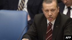 U.S. -- Turkish Prime Minister Tayyip Erdogan attends the United Nations Security Council meeting during the UN General Assembly at UN Headquarters in New York, 24Sep2009