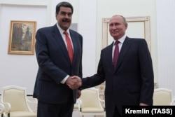 Одна из последних встреч Владимира Путина и Николаса Мадуро. Москва, Кремль, 25 сентября 2019 года