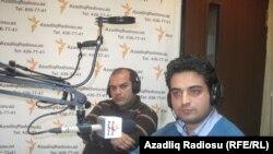 Kənan Hacı və Sayman Aruz. Azadlıq Radiosunun Bakı bürosu, 27 yanvar. 2011