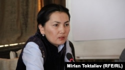 Депутат от фракции «Ата Мекен», бывший генпрокурор Кыргызстана Аида Салянова.