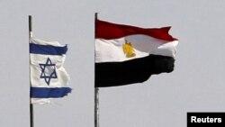 Флаги Израиля и Египта на границе