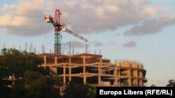Un șantier la Tiraspol în plină criză economică majoră
