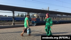 Stacioni i trenave në Brest të Bjellorusisë, 27 qershor 2016