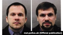 Aleksandr Petrov (left) and Ruslan Boshirov have been identified by the U.K. in the poisoning of Sergei Skripal and his daughter Yulia. (file photo)