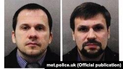 «Александр Петров» и «Руслан Боширов» в розыскных фотоматериалах британской полиции, 2018 год