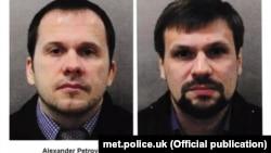 Фотографии подозреваемых в атаке на Скрипалей, распространенные властями Британии.