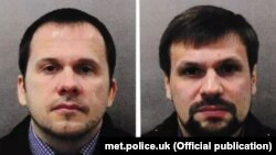 Aleksandr Petrov (left) and Ruslan Boshirov have been identified by the U.K. in the poisoning of Sergei Skripal and his daughter Yulia.