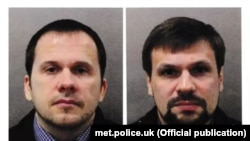 The two suspects in the Salisbury attack were named by Metropolitan Police as Aleksandr Petrov (left) and Ruslan Boshirov.