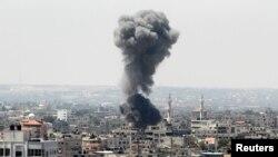 Ілюстраційне фото: повітряний удар Ізраїлю в місті Газа, 8 липня 2014 року