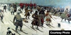 """""""Поход московитов"""". Сергей Иванов, 1903 год"""
