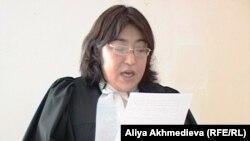 Судья Коксуского районного суда Алматинской области Гульжазира Садыбаева.