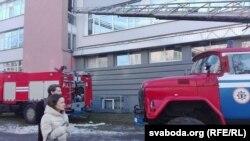 Пажарныя на выкліку, архіўнае фота