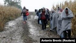 Migranti u blizini granice Hrvatske, ilustrativna fotografija