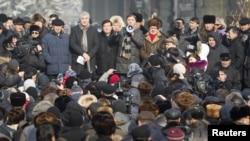 Митинг оппозиции в Алматы. 28 января 2012 года.