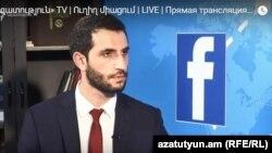 Заместитель министра иностранных дел Армении Рубен Рубинян в студии Азатутюн ТВ, Ереван, 11 июня 2018 г․