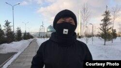 Марафонец Марат Жыланбаев. Нур-Султан, 23 марта 2020 года.