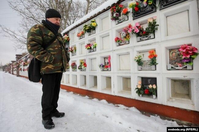 Віктар Сівохін на Ўсходніх могілках
