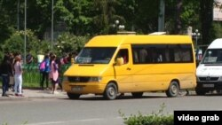 Маршрутное такси в Бишкеке.