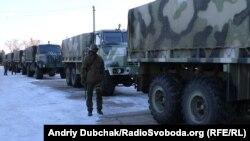Навчання артилеристів Національної гвардії на полігоні Дівічки поблизу Києва, лютий 2015 року
