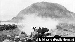 Бої за острів Іодзіма, історичне фото, 1945 рік