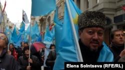 Ղրիմի թաթարները բողոքի ակցիա են անցկացնում Ռուսաստանի գործողությունների դեմ, 8-ը մարտի, 2014