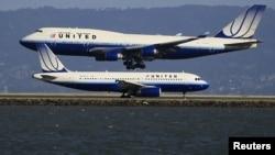 Aeroplanë të udhëtarëve në Shtetet e Bashkuara