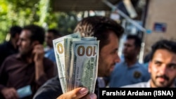 Iran, Marivan -- Forex black market in the city of Marivan, in Kurdistan province near the Iraq border. FILE PHOTO