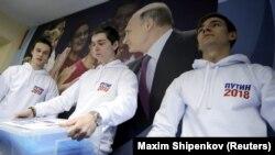 Мәскәүдә Владимир Путин өчен имза җыючы волонтерлар