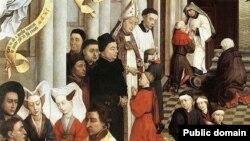 Строгий обряд конфирмации в Дании со временем превратился в семейный праздник. Картина Рогира ван дер Вейдена, XV век