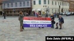 Zagreb: Potpora vukovarskim protivnicima ćirilice, 28. listopad 2013.