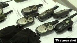 Вещи, найденные у предполагаемых участников заговора в Черногории