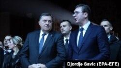 Milorad Dodik, član Predsjedništva BiH i Aleksandar Vučić, predsjednik Srbije