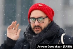 Serebrennikov before a court hearing in Moscow on January 21
