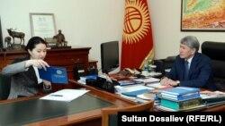 Алмазбек Атамбаев жана Индира Жолдубаева.