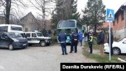 În preajma taberei din Vucjak